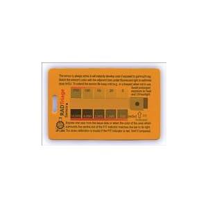 放射線測定カード「RADTriageFIT」 米国製放射線計測器 ガイガーカウンターカード式線量計2枚セット