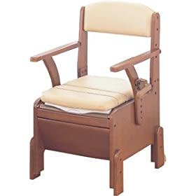 【クリックでお店のこの商品のページへ】【安寿】家具調ポータブルトイレCP(暖房便座タイプ)
