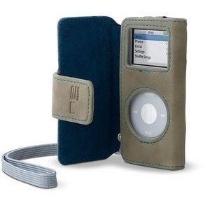 【クリックで詳細表示】Belkin Suede Folio For iPod nano Tan/Blue F8Z092-TB: 家電・カメラ
