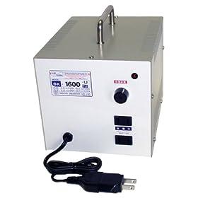 【クリックで詳細表示】日章工業 トランスフォーマSKシリーズ(電圧アップ・ダウン両用タイプ)AC120V⇔AC100V1600W SK-1600U: ホーム&キッチン