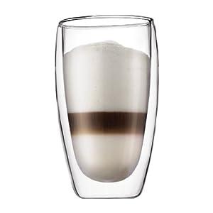 bodum Pavina ダブルウォール保温グラス0.46L 2個セット 4560-10