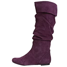 Endless.com: Steve Madden Women's Bonanza Tall Shafted Flat Boot: Categories - Free Overnight Shipping & Return Shipping :  purple boots suede boots purple boots