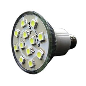 【クリックで詳細表示】大幅な省エネを実現致します♪LED電球より明るい12SMD電球/口金E17(一般電球タイプ)