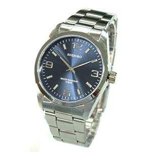 [エンデューロ]ENDURO 腕時計 日本製ムーブメント 100M防水 ステンレスベルト メンズウォッチ EW-2135-BU ネイビー
