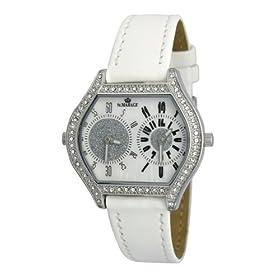 【クリックで詳細表示】St.MARAGE(セント.マリアージュ) 腕時計 ツイン クオーツ レディース レザー ウォッチ MA-2004 ホワイト: 腕時計通販