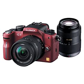 Panasonic デジタル一眼カメラ LUMIX (ルミックス) G1 Wレンズキット コンフォートレッド DMC-G1W-R