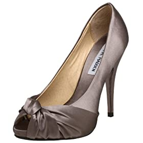 Steve Madden Women's Glamorus Open Toe Pump - Free Overnight Shipping & Return Shipping: Endless.com :  pumps peep toes heel silver