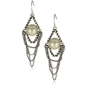 Kenneth Cole New York  and Pearl Chandelier Earrings :  chandelier earrings pearl chandelier earrings fashion earrings pearl earrings