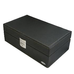 【クリックで詳細表示】[リボルバー]REVOLVER 皮革コレクションケース 3本用 ブラック RE-58037BK CL-3 BK : 腕時計通販 | Amazon.co.jp