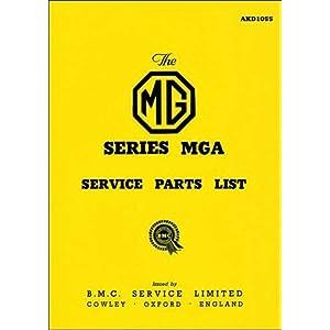 【クリックで詳細表示】MG MGA 1500 Service Parts List [ハードカバー]