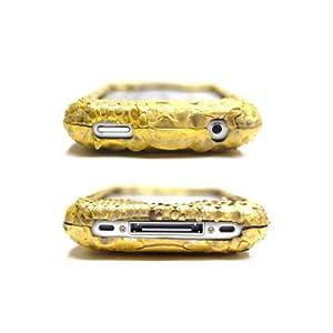 マユミハセガワ ゴールドパイソンレザー iphoneケース(ボディタイプ・本革)日本製