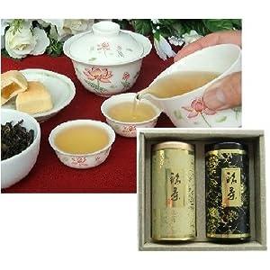 【クリックで詳細表示】茶頌ギフト 5000円Aセット (特級 阿里山高山茶 + 1級 凍頂烏龍茶)