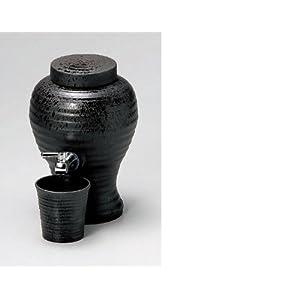【クリックで詳細表示】古窯 焼酎サーバー & グラスセット 1800cc 輸入品: ホーム&キッチン