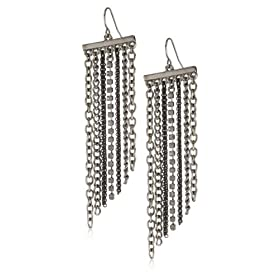 "Kenneth Cole New York ""Blackout"" Fringe Earrings from endless.com"