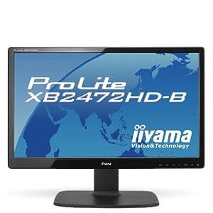 iiyama 24インチワイド液晶ディスプレイ VAパネル LEDバックライト 昇降・ピボット機能搭載 HDMIケーブル同梱モデル マーベルブラック PLXB2472HD-B1