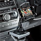 ドリンクホルダーを利用してiPhoneを置く「ドリンクホルダー固定型車載ホルダー」