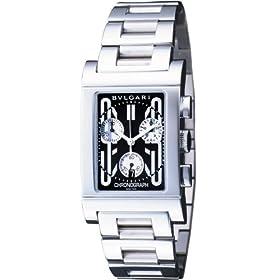 BVLGARI (ブルガリ) 腕時計 RTC49BSSD レッタンゴロ クロノグラフ ブラック メンズ