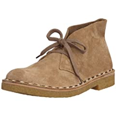 Leather 2-tone Stitch Down Desert Boots ...