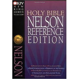 【クリックでお店のこの商品のページへ】Holy Bible New King James Version Nelson Reference Bibles [革装本]