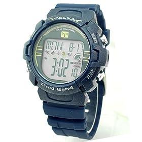 TELVA (テルバ) 腕時計 電波デジタル メンズウォッチ TEV-2509-NV ネイビー