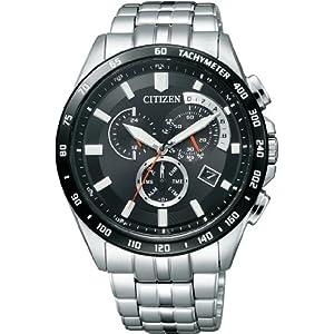 シチズン]CITIZEN 腕時計 Citizen Collection シチズン コレクション Eco-Drive エコ・ドライブ 電波時計 クロノグラフ AT3004-58E メンズ