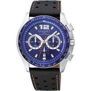 GUIONNET (ギオネ) 腕時計 フライトタイマー メタリックブルー BR1500BU メンズ