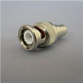 【クリックで詳細表示】F-FACTORY ピン(RCA)ケーブルを⇒BNCプラグに変換! 変換プラグ10個入り/AD411-10P: 家電・カメラ