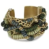 """Kenneth Cole New York """"Urban Natural"""" Green Beaded Cuff"""