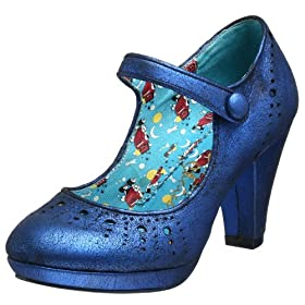 Irregular Choice Talley Ho Mary Jane Pump - Free Overnight Shipping & Return Shipping: Endless.com :  blue platform pump heel