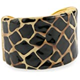 Kenneth Jay Lane Beige And Black Animal Print Cuff Bracelets