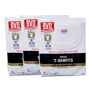 【クリックでお店のこの商品のページへ】B.V.D.丸首半袖Tシャツ 3枚組