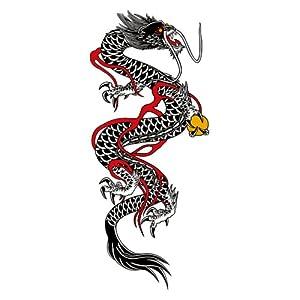 【クリックで詳細表示】祭化粧 R166 黒竜(17.5cm x 10cm) : 服&ファッション小物通販 | Amazon.co.jp