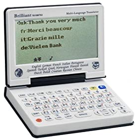 【Brilliant】16言語音声対応のコンパクト電子辞書