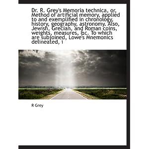 【クリックでお店のこの商品のページへ】Dr. R. Grey's Memoria technica, or, Method of artificial memory, applied to and exemplified in chronology, history, geography, astronomy. Also, Jewish, Grecian, and Roman coins, weights, measures, &c. To which are subjoined, Lowe's Mnemonics delineat