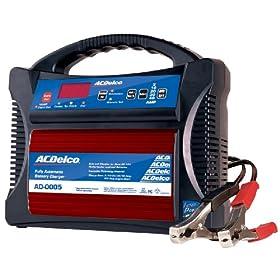 【クリックで詳細表示】ACDelco(エーシーデルコ) 全自動バッテリー充電器 12V専用 AD-0005: カー&バイク用品