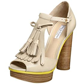 Pour La Victoire Women's Fiona Open-toe Platform  :  platform shoe nude fiona