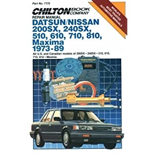 【クリックで詳細表示】Chilton's Repair Manual Datsun/Nissan 200Sx, 240Sx, 510, 610, 710, 810, Maxima 1973-89: All Us and Canadian Mdls of 200Sx 510 610 710 810 Maxima (Chilton's Repair Manual (Model Specific)) [ペーパーバック]