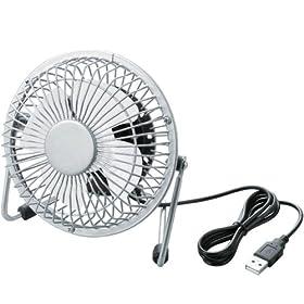 : ELECOM USB扇風機 レトロ調 ホワイト FAN-U18WH