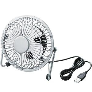 ELECOM USB扇風機 レトロ調 ホワイト FAN-U18WH