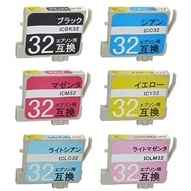 【クリックで詳細表示】<title>Amazon.co.jp: エプソン IC6CL32 互換 6本セット: 家電・カメラ</title>