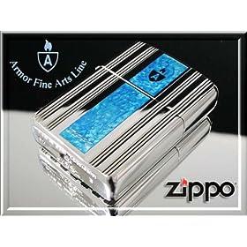 【クリックで詳細表示】【100個限定】zippo ジッポー ライター アーマー シルバーダイヤカット格子柄 深彫り両面加工 16DC-4