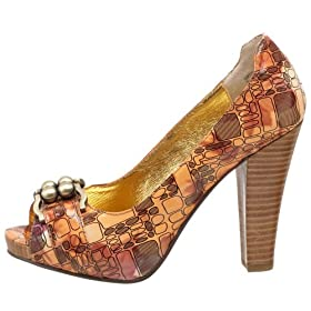 Naughty Monkey Turn It Up Pump :  pumps heels shoes print