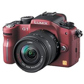 Panasonic デジタル一眼カメラ LUMIX (ルミックス) G1 レンズキット コンフォートレッド DMC-G1K-R