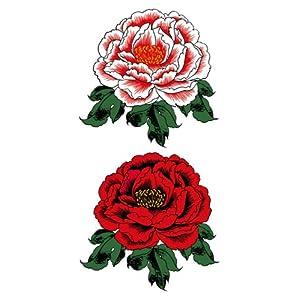 【クリックで詳細表示】祭化粧 R199 赤牡丹(17.5cm x 10cm) : 服&ファッション小物通販 | Amazon.co.jp