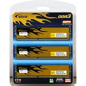 【クリックで詳細表示】シー・エフ・デー販売 メモリ デスクトップ 240pin PC3-12800(DDR3-1600) DDR3 6GB(2GB x 3枚組) T3U1600HQ-2G