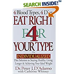 Eat Right 4 Your Type: The Individualized Diet Solution to Staying Healthy, Living Longer & Acheiving Your Ideal Weight