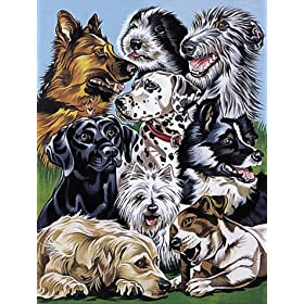 Paint-by-number dog art at Amazon